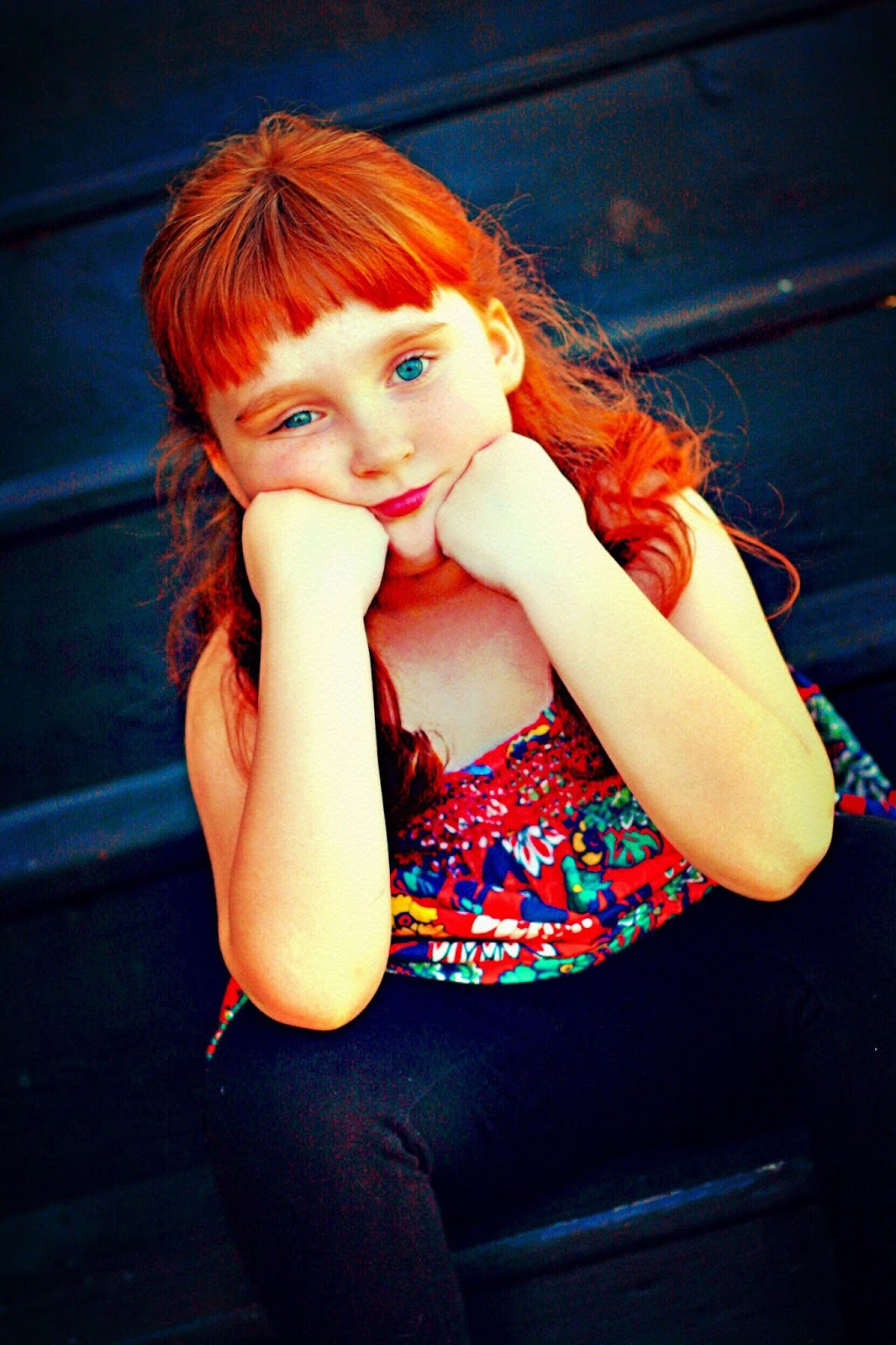 young girl photo, redhead photo, ginger girl, cute ginger child