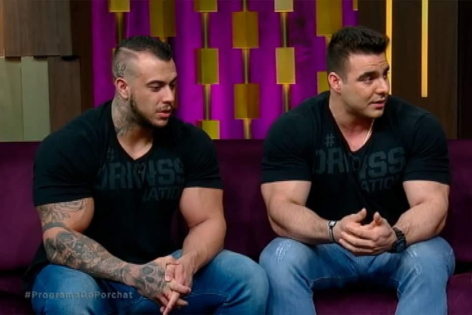 Marcello De Angelis e Rafael Brandão no Programa do Porchat. Foto: Reprodução