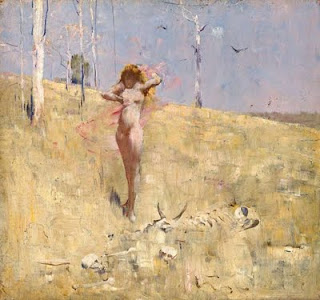 Spirit Of The Drought - Arthur Streeton painting