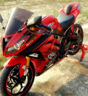 Ninja 250 Fi Modifikasi Warna Merah