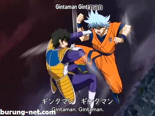 Gintama Parody Dragonball Goku Vegeta Episode 100