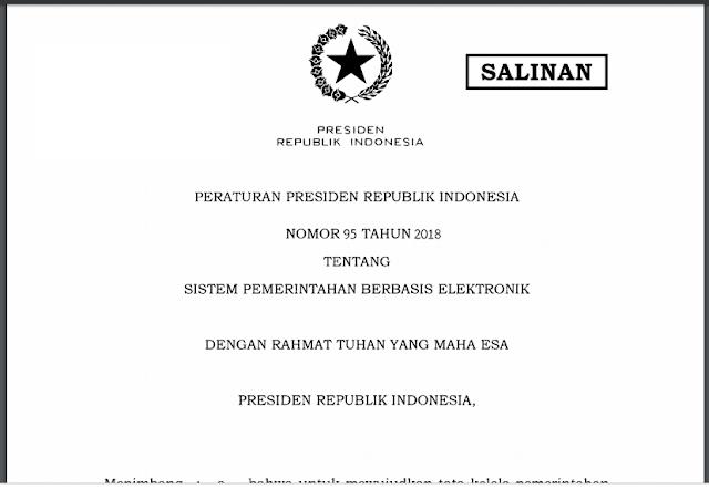 Peraturan Presiden Republik Indonesia Nomor 95 Tahun 2018 Tentang Sistem Pemerintahan Berbasis Elektronik-librarypendidikan.com