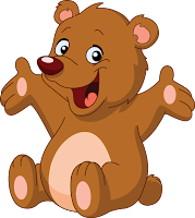 Resultado de imagen de oso animado saludando