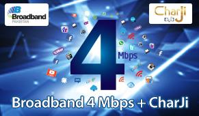 BROADBAND 4 Mbps + CHARJI