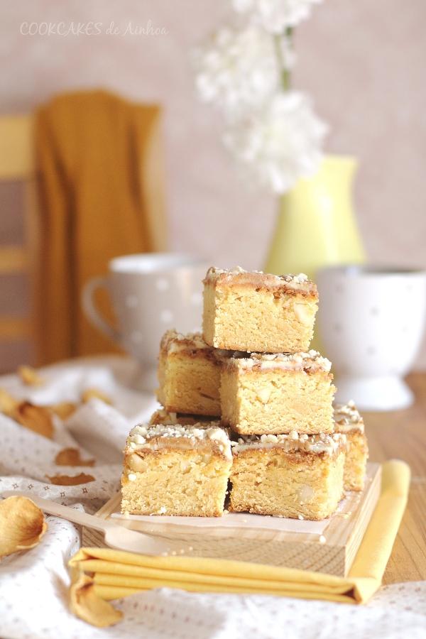 Blondie con speculoos y nueces de macadamia. Cookcakes de Ainhoa