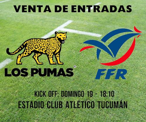 Venta de entradas para ver a Los Pumas en Tucumán