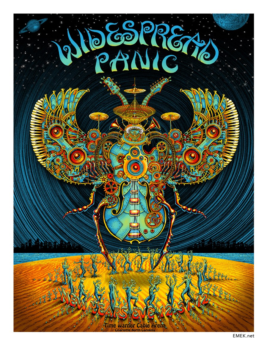 INSIDE THE ROCK POSTER FRAME BLOG: Widespread Panic Emek Charlotte ...