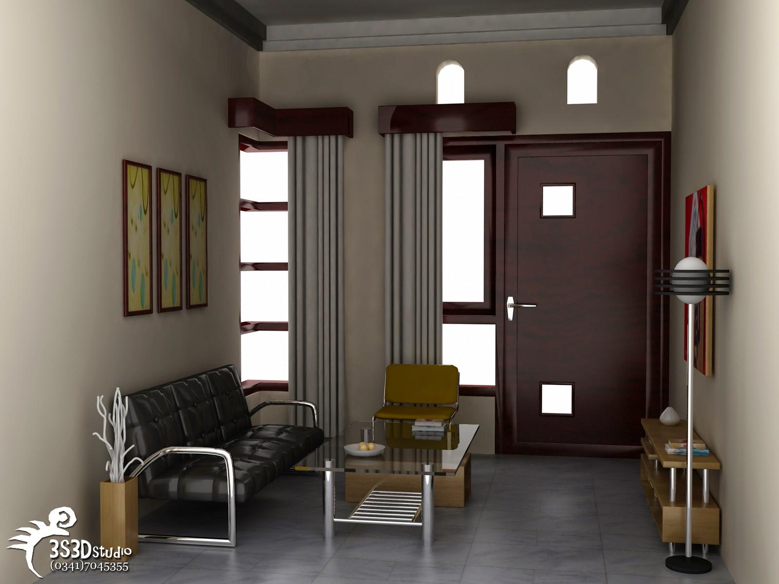 Desain Ruang Tamu Rumah Kontrakan Wallpaper Dinding