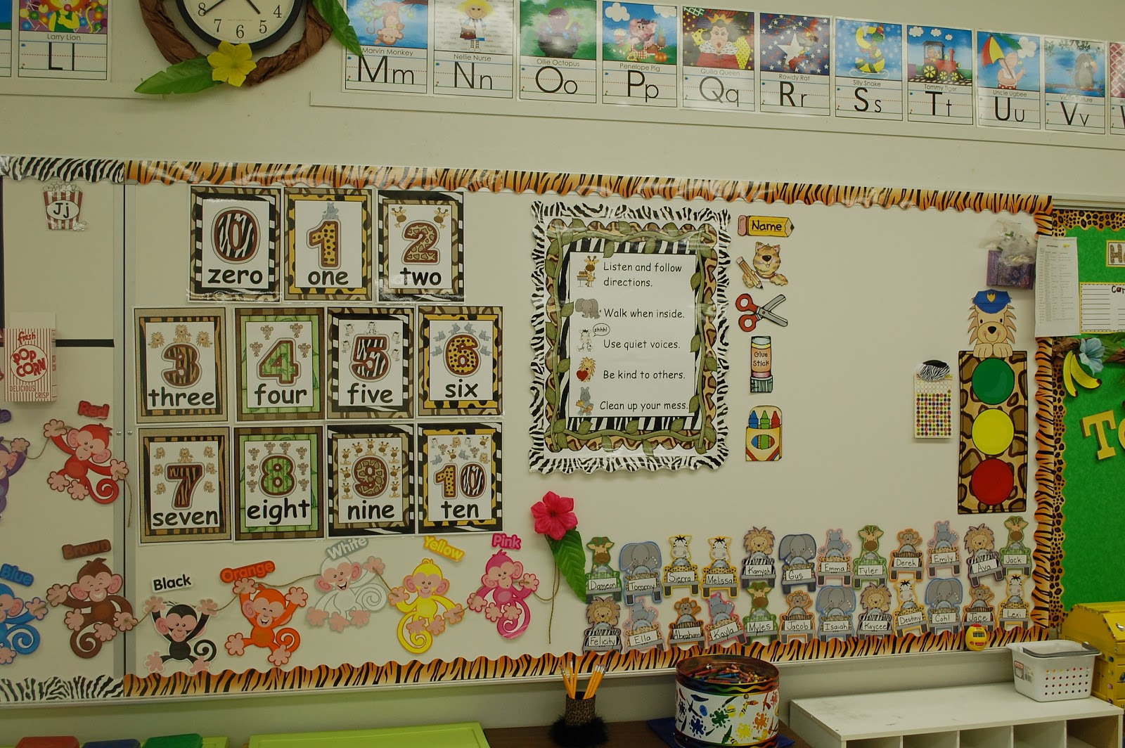 Zebra Classroom Decor ~ My jungle themed classroom decor little warriors