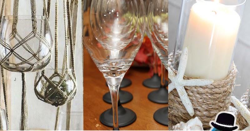 12 idee per il riciclo dei bicchieri di vetro raccolta kreattivablog - Decorare bicchieri di vetro ...