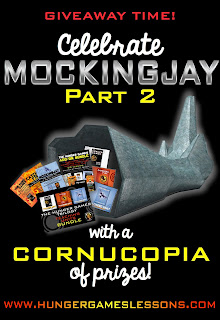 Enter the Mockingjay Part 2 Giveaway at www.HungerGamesLessons.com