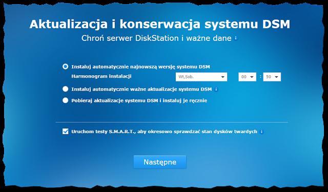 Podstawowa konfiguracja Synology DS216j