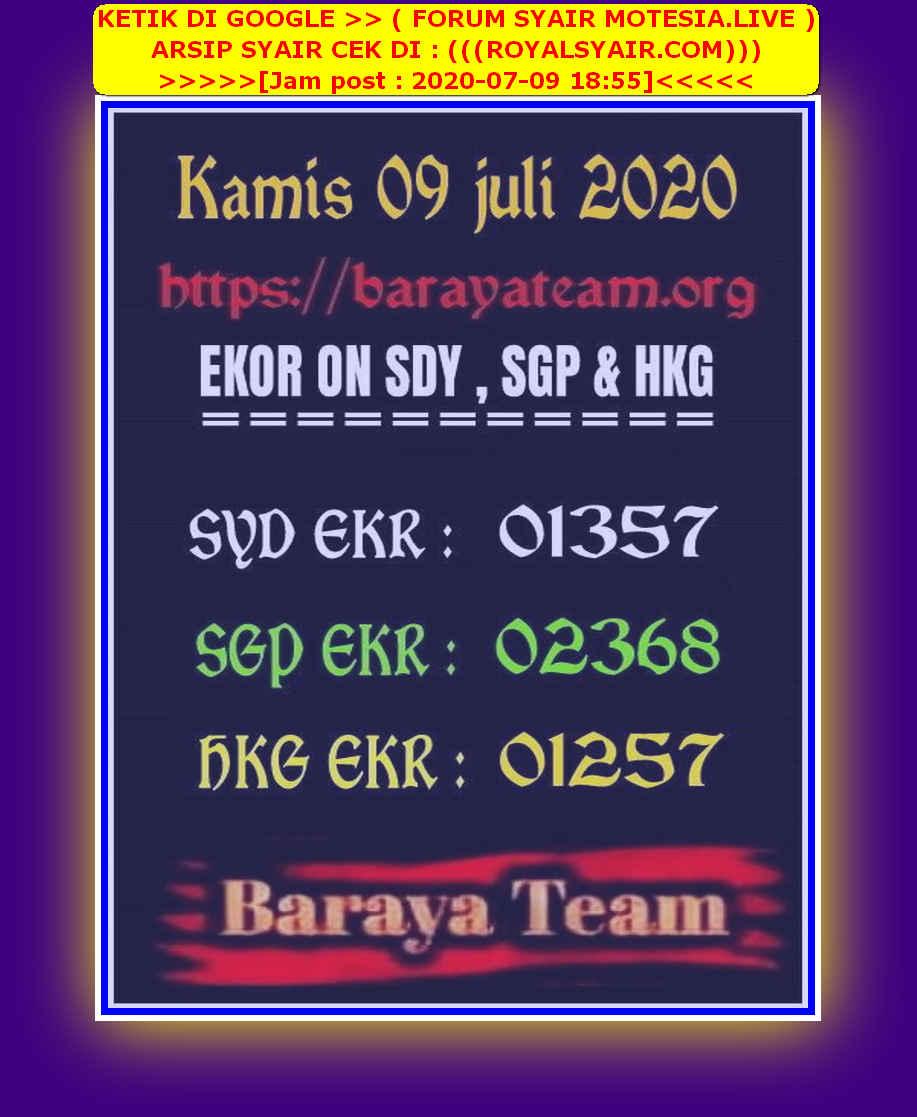 Kode syair Hongkong Kamis 9 Juli 2020 175