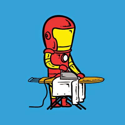 Iron Man planchado.
