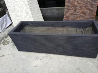 Jual pot minimalis persegi panjang berbahan semen | pot untuk pagar dan pembatas