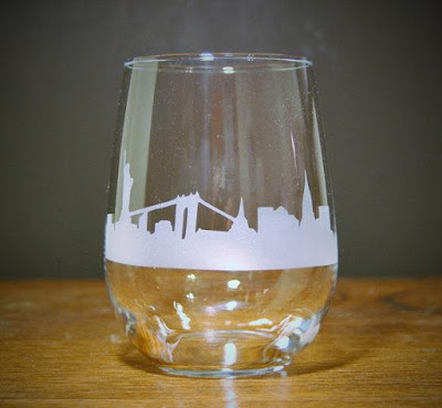 New York City Skyline Glass