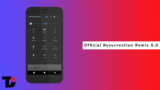 Cara Instal Cusrom Resurrection Remix v.6.00 Oreo di Redmi Note 4x (Mido)