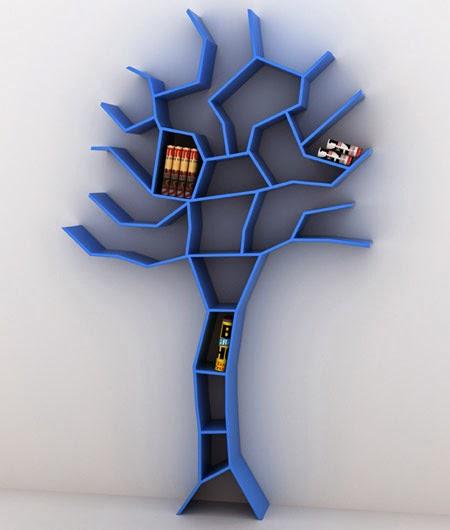 Dalam Lemari 1 Terdapat 4 Kemeja Batik: Marlique: Kumpulan Desain Rak Buku Minimalis Dan Keren