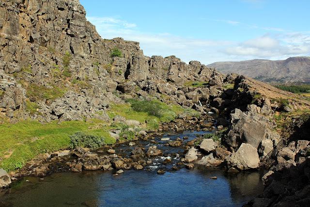 Río Öxará en Þingvellir