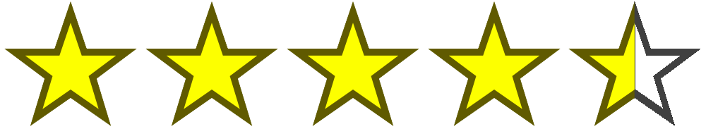 Image result for 4.5 stars out of 5