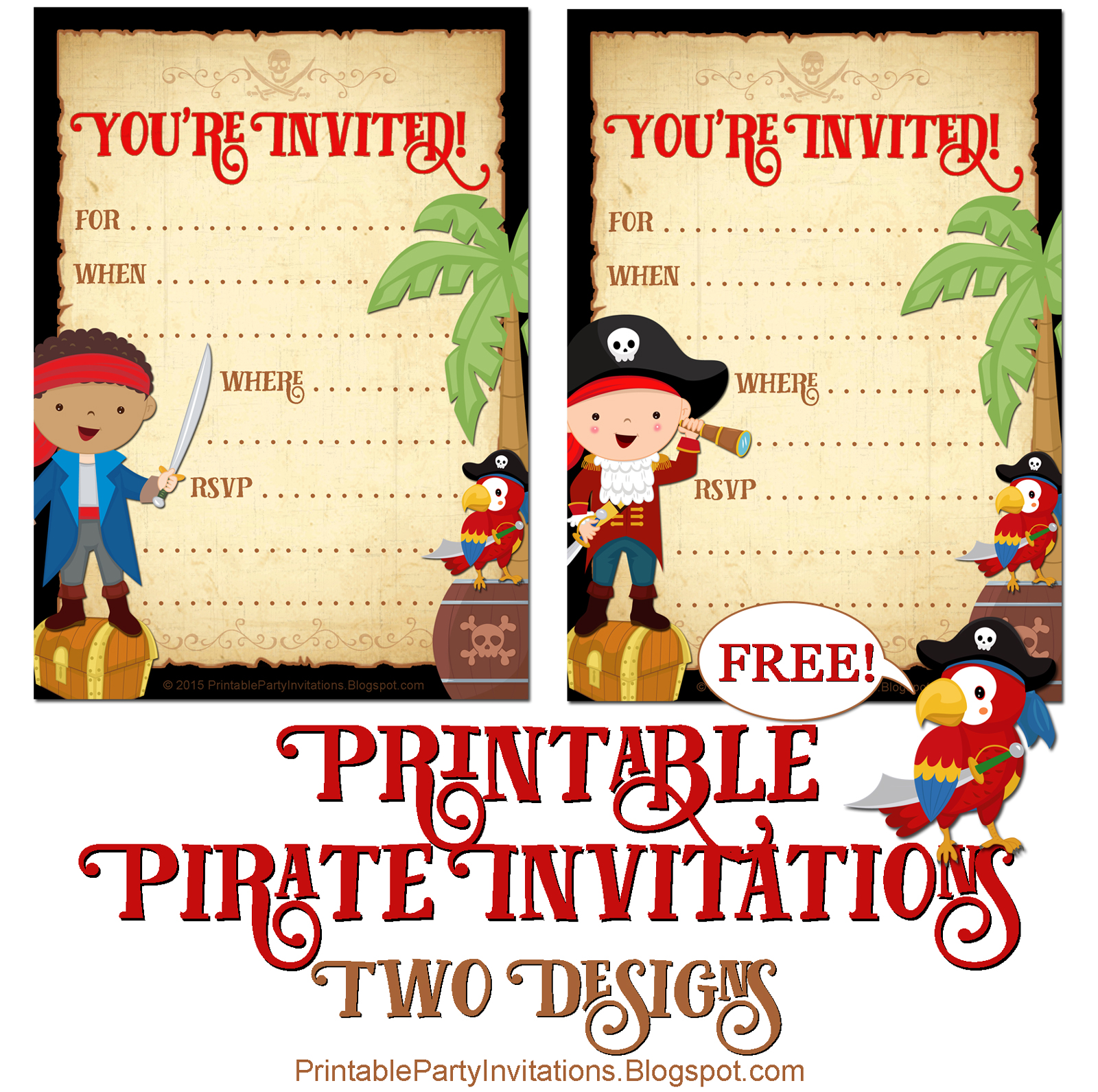These Pirate Party Invitations Will Set The Tone For Your Childs Themed Birthday To Be A Huge Success Since Kids Come In All Sizes And Colors