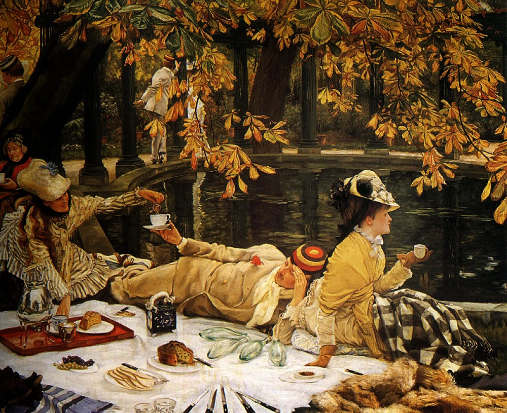 James  Tissot    French  painter C    D  The  Picnic