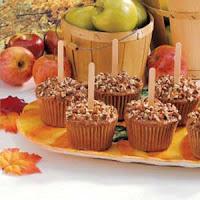 caramel apple fall halloween cupcakes