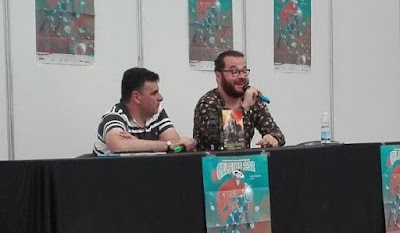 Victor Blanco y José Manuel Estébanez  presentando Delbaeth Rising