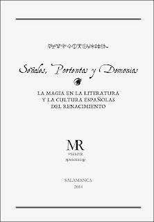 Presentación de Señales, portentos y demonios. La magia en la literatura y la cultura españolas del Renacimiento. Portada del ejemplar.