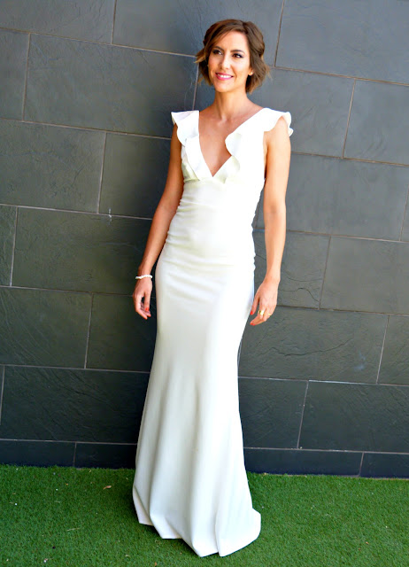 Fitness And Chicness-Top Queens Bridal White Maxidress-3