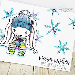 ScrappyScrappy: Christmas Cuddlebugs with Unity Stamp  - Winter Bunny Cuddlebug #scrappyscrappy #unitystampco #tierrajackson #cuddlebug #christmascard #cardmaking #papercraft #quicktipvideo #youtube #copicmarkers #snowflake #winterwishes #glitterific #timholtz #distressoxide