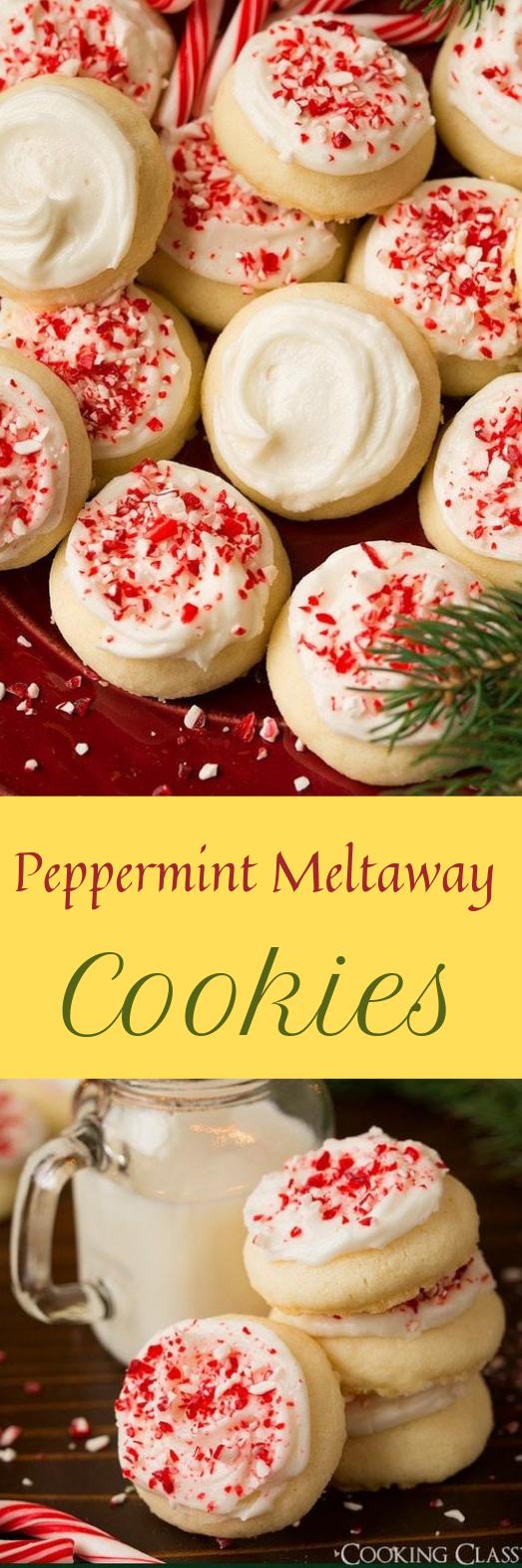 Peppermint Meltaway Cookies #cake #cookies