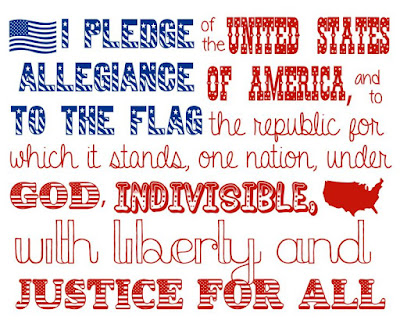 "The original pledge of allegiance did not contain the words ""under god"""
