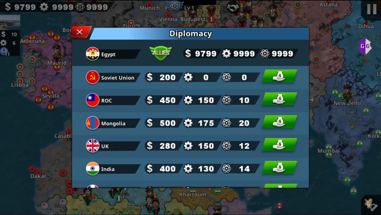 World Conqueror 4 Cheats and Hacks