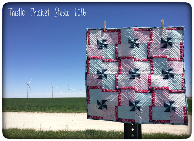 Thistle Thicket Studio, Whirl & Twirl quilt, mini quilt, Pat Bravo, Dare fabrics, Essentials II fabrics, quilts,