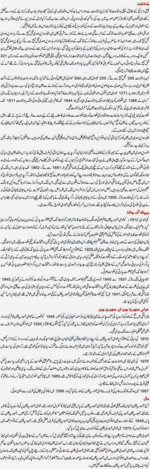 Historyblog History Of China In Urdu