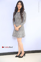 Actress Chandini Chowdary Pos in Short Dress at Howrah Bridge Movie Press Meet  0018.JPG
