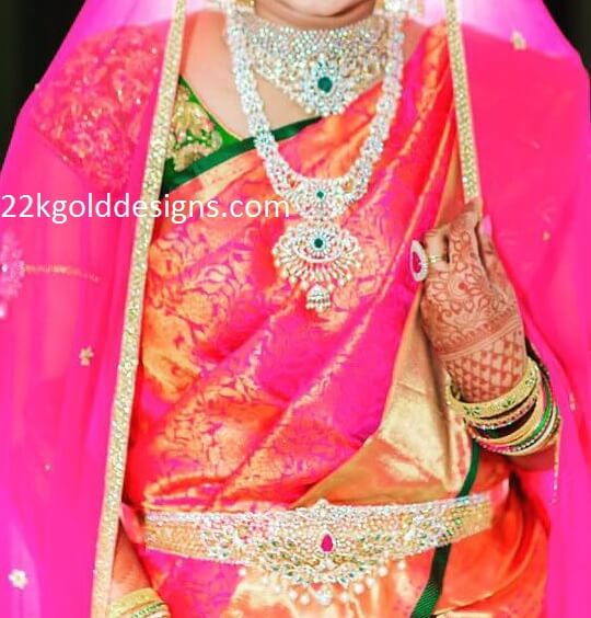 Bride in Complete Diamond Jewelry