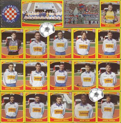 Hajduk Split sličice album Nogomet 1997
