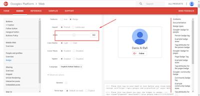 Cara pasang widget google+