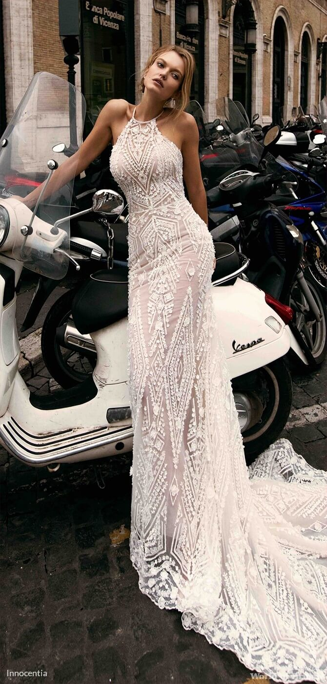 """147e9d707d3 Innocentia Spring 2018 """"Roma"""" Wedding Dress — One more luxurious creation  of Innocentia perfectly fits in the theme of Ancient Rome."""