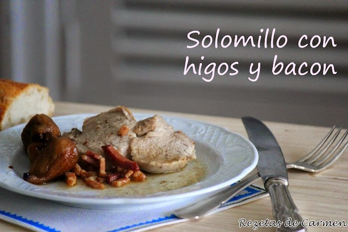 Solomillo con higos y bacon