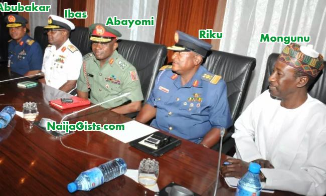 new military service chiefs nigeria