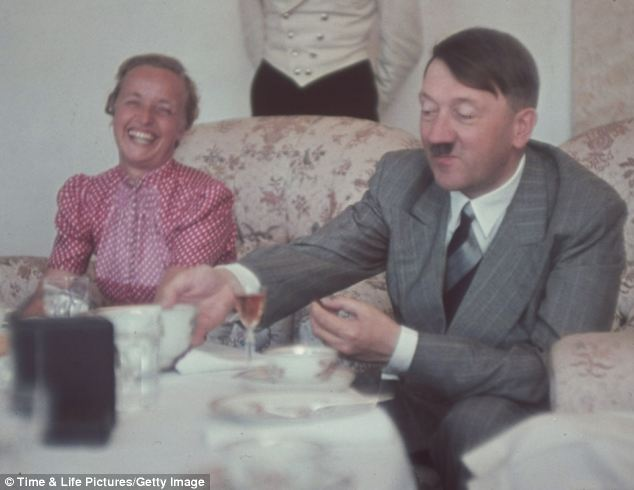 Adolf Hitler and Mrs. Albert Forster, women color photos worldwartwo.filminspector.com