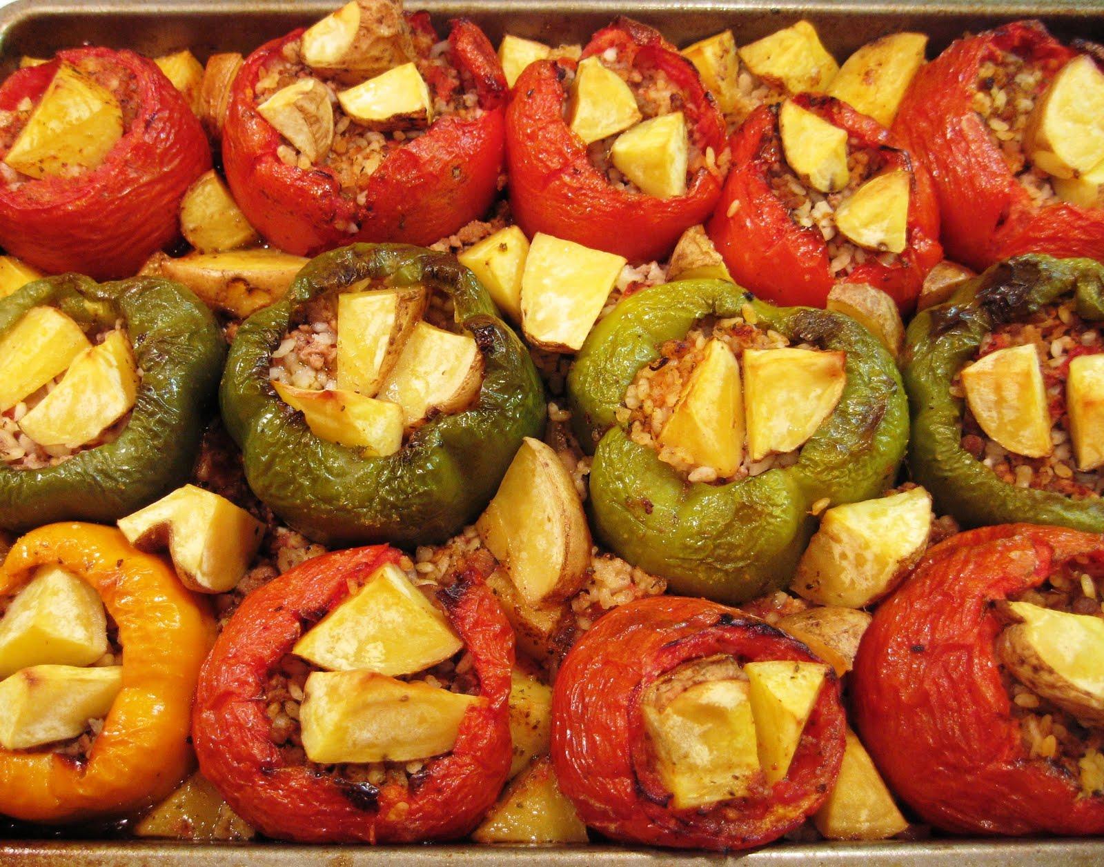 The Sensitive Epicure: Yemista: Greek Stuffed Tomatoes