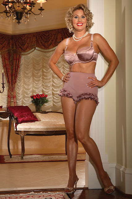 Mature babes wearing satin
