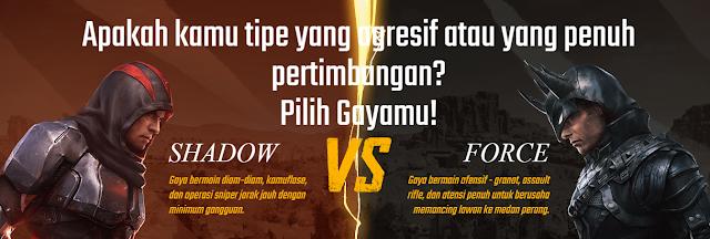 Shadow vs Force PUBG mobile