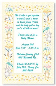 Christmas Gift Cute Baby Shower Invitation Wording Ideas