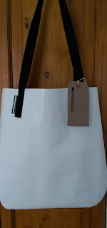 Upcycled PVC tote