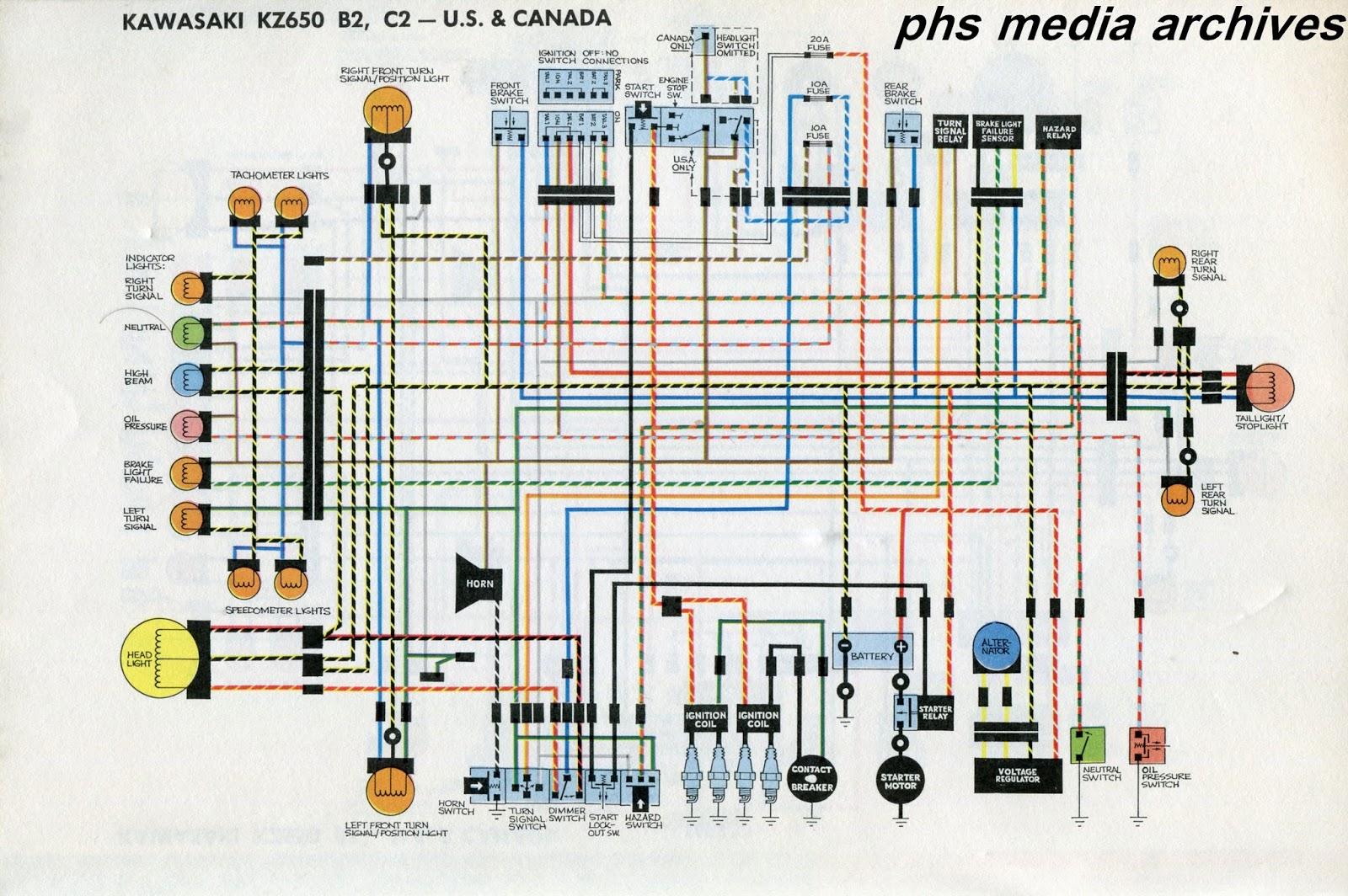 z650 wiring diagram jenn air refrigerator parts tech series kawasaki kz650 diagrams